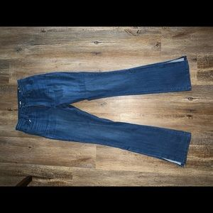 blue bell bottoms with slit at bottom